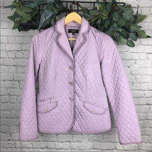Talbots Lavender Purple Quilted Jacket
